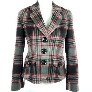 Talbots Wool Plaid Blazer Size 6